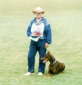Here's Linda Werlein, Sr. Training Consultant at Euro Pros, with one of her competition dogs